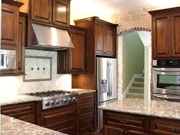 Kitchen Cabinets Stainless Steel Furniture Contemporary Cherry Kitchen Cabinets With Granite