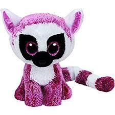 amazon ty beanie boos leeann pink lemur reg plush toys u0026 games