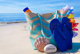 seashell flip flops bag with seashell flip flops rock and sunscreen by the