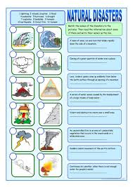 natural disasters matching exercises worksheet free esl