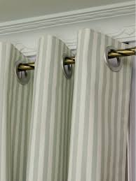 modern narrow striped cotton blend blackout grommet ready made curtain