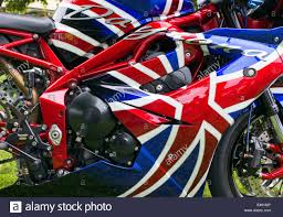 British Flag With Red Great British U0027union Jack U0027 Design On A Retro Golf Bag Stock Photo