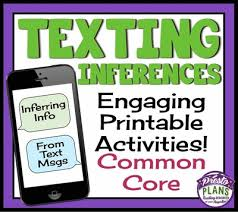 inference activities text message inferences worksheets common