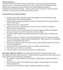 resume job description com cleaning technician job description http resumesdesign com