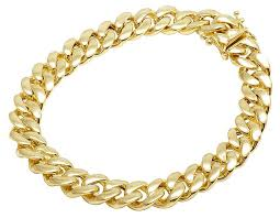 gold clasp bracelet images 10k yellow gold semi hollow miami cuban box clasp bracelet 10mm 8 jpg