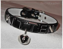 customizable kitten bell collar faux leather collar with wish