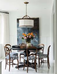 an eclectic dining room ensembliers interiors