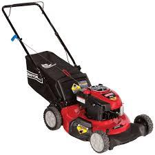 craftsman 190cc low wheel rear bag push mower easy mowing at sears