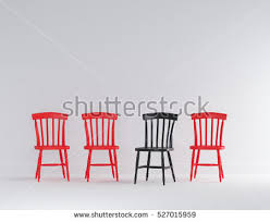 Black And Wood Chairs Two Chairs Table Bright Modern Interior Stock Illustration