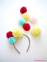 diy pompom gifts kids can craft for mom party ideas party