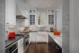 Waterfall Glass Tile Glass Tile Backsplash Kitchen Contemporary With Under Cabinet