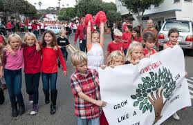parade ribbon students march through downtown san clemente for ribbon parade