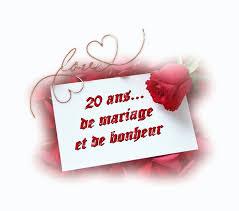 26 ans de mariage de nos 20 ans de mariage