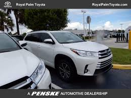 toyota highlander 2017 used toyota highlander xle v6 fwd at royal palm toyota