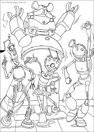 robots coloring pages free printable disney coloring sheets kids