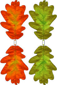 green and red paper oak leaf decoration rooftop post printables