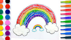 dress coloring pages salt painting for kids learn colors rainbow