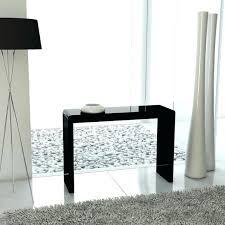 mango wood console table black gloss console table grade high narrow small vennett smith uk