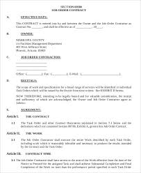 9 job order forms free sample example format download free