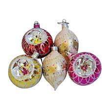 fancy vintage tree ornaments w boxes set of 12 chairish