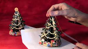 traditional pop up christmas tree greeting cards youtube
