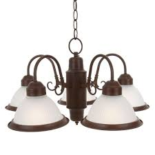 Commercial Chandeliers Commercial Electric Halophane 5 Light Nutmeg Chandelier Wb0390