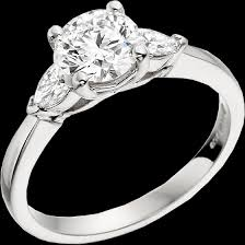 platinum rings stones images Single stone engagement ring with shoulders three stone ring for png