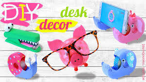 Fashionable Desk Accessories Diy Desk Decor And Organization Ideas How To Make Animals