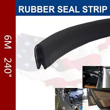 6m black universal rubber edge trim seal protector guard strip