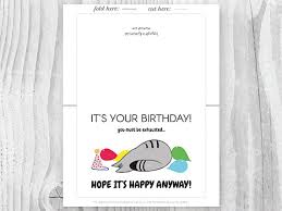 introvert birthday cards printable cat cards printable