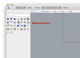 left sidebar customizing the left sidebar palette in rhino for mac mcneel wiki