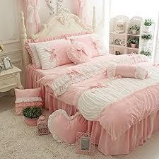 amazon com fadfay cute girls short plush bedding set romantic