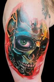 76 skull tattoos designs colors and