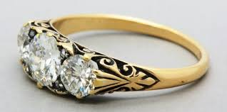 rings vintage gold engagement rings estate rings art deco