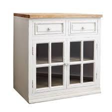 meuble bas pour cuisine meuble bas vitré de cuisine en manguier ivoire maisons du monde