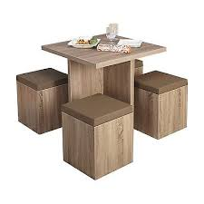 Space Saver Kitchen Tables by Space Saver Dining Set Kitchen Table W 4 Padded Storage Ottomans