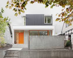 Modern Hill House Designs Charming Living Room With Concrete Floor Capitol Hill House