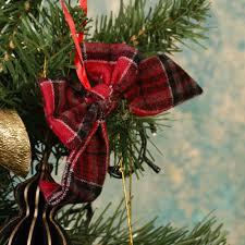festive tartan bow tree decoration