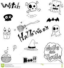 Cute Halloween Pictures To Draw Cute Witch Halloween With Hand Draw Stock Vector Image 73400180
