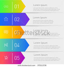 Easy Infographic Template vector infographic template diagram graph presentation stock vector