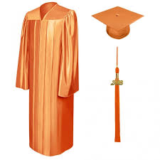 white cap and gown gold pink orange white high school graduation caps gowns acadima