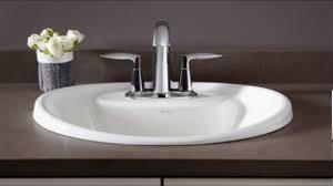 drop in bathroom sinks youtube