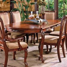 steve silver harmony 8 piece oval dining room set in cherry