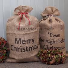 large christmas hessian sack bakers twine stocking santa broadoak