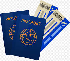 Airline ticket travel passport passport tickets png download