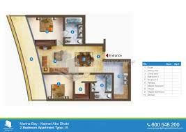 floor plan of marina bay najmat al reem island