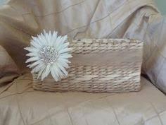 Basket For Wedding Programs Ivory Shabby Chic Flower Wedding Basket By Creations4brides