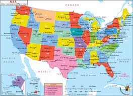 map of usa showing states and cities us state map with cities