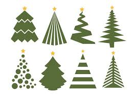 Christmas Decorations On White Background by Christmas Tree Vector Set On White Background Download Free