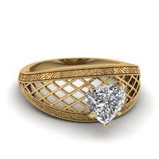 heart shaped diamond engagement rings filigree antique heart shape diamond engagement ring in 18k rose gold